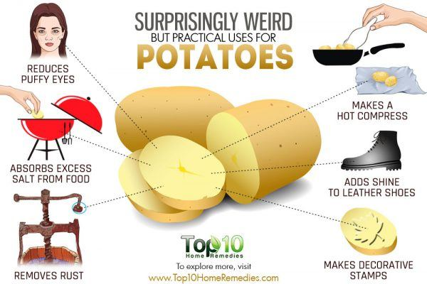 weird but practical uses for potatoes