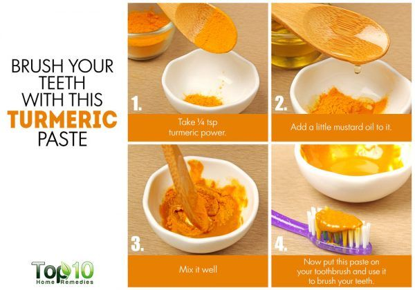 turmeric as a natural toothpaste