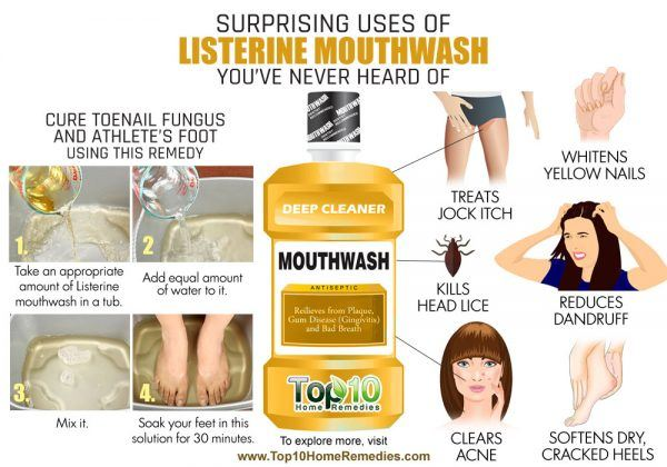 surprising uses of Listerine mouthwash