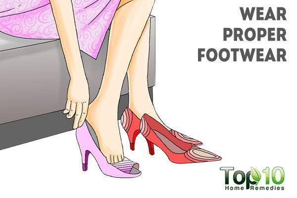 wear proper footwear