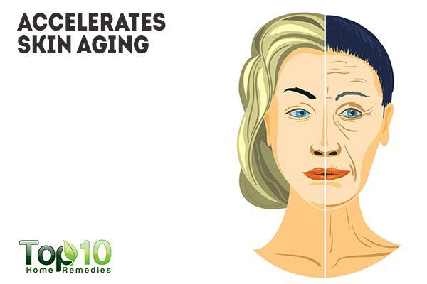 sugar accelerates skin aging