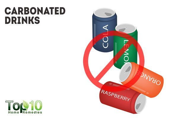 avoid carbonated drinks