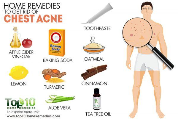 home remedies for chest acne