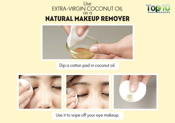 coconut oil as a natural makeup remover