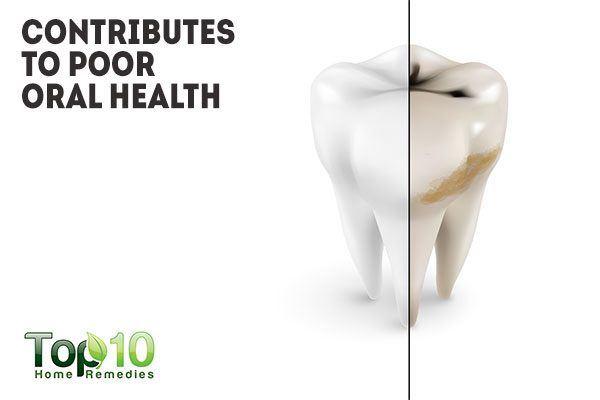 sugar contributes to poor oral health