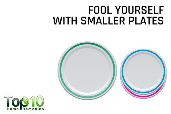 eat foods in smaller plates