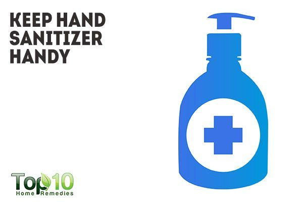 keep hand sanitizer handy