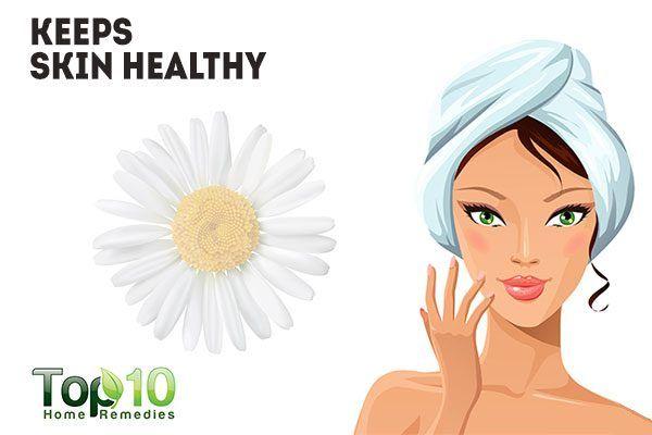chamomile keeps skin healthy