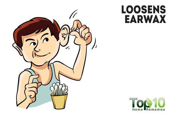hydrogen peroxide loosens earwax