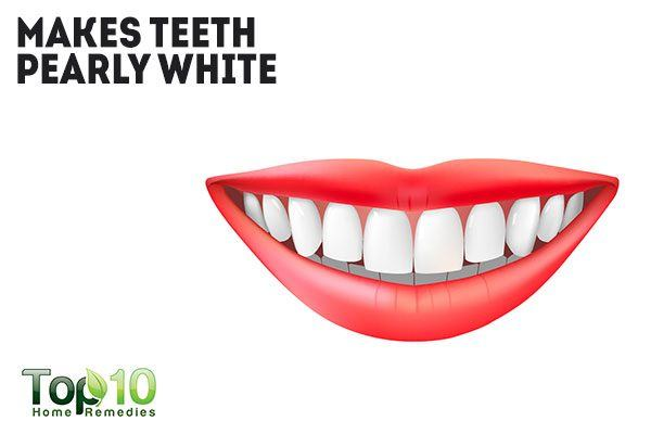 hydrogen peroxide makes your teeth pearly white