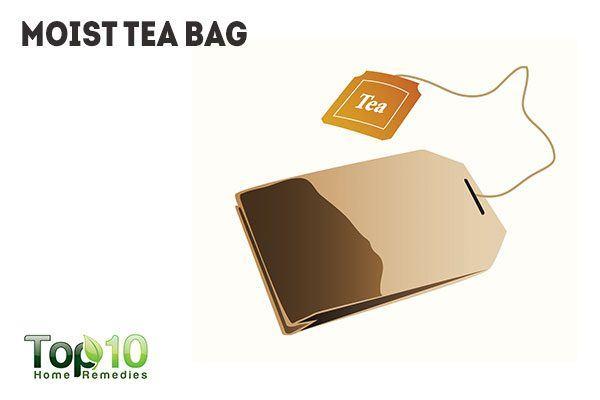 moist tea bag for mucocele