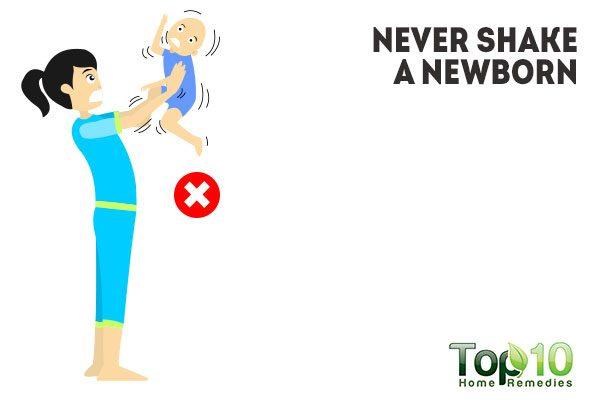 never shake a newborn baby