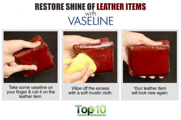 vaseline restores shine to leather