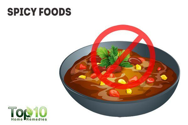 avoid spicy foods