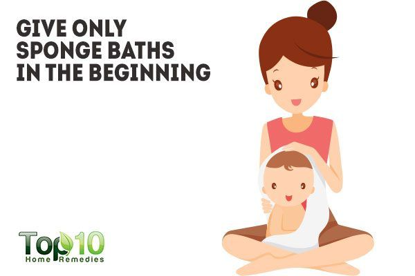 give only sponge bath in the beginning
