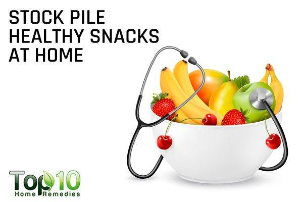 stock pile healthy snacks at home