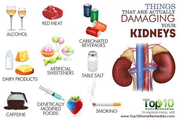 things that are damaging for your kidneys