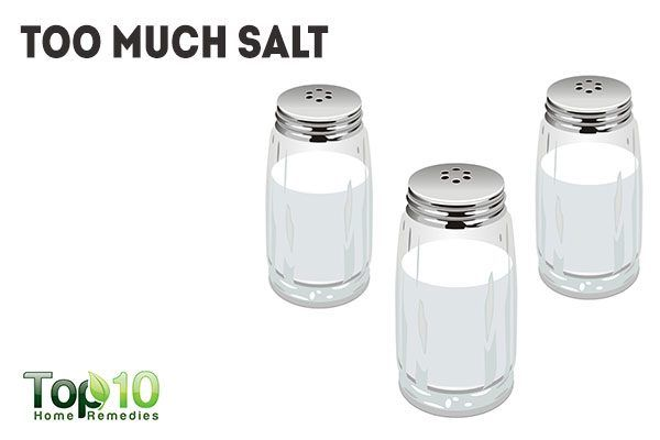 too much salt causes peptic ulcers