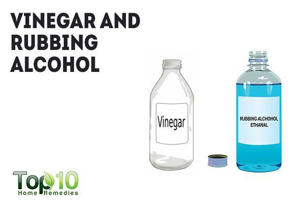 clean your ears with vinegar and rubbing alcohol solution