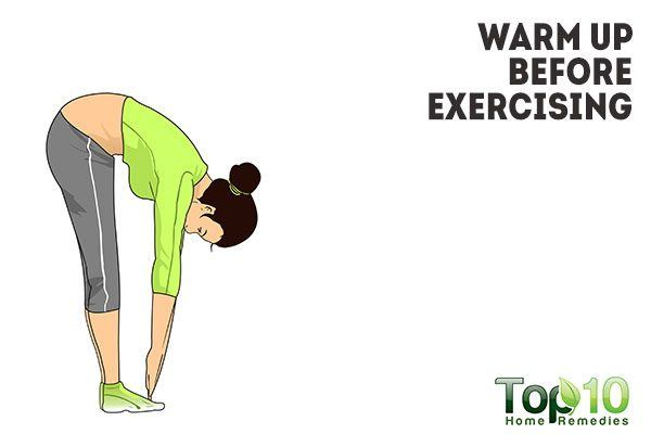 warm up before exercising