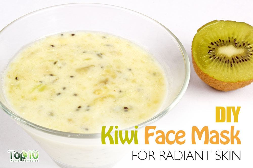 homemade skin brightening kiwi banana face mask
