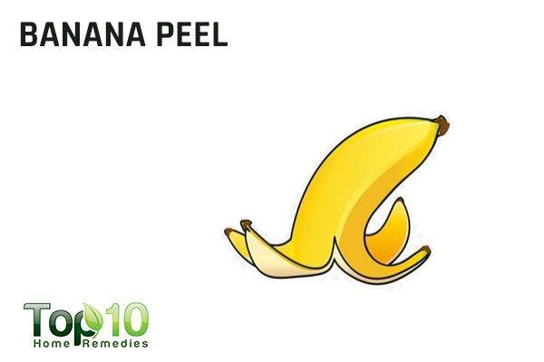banana peel to remove splinters