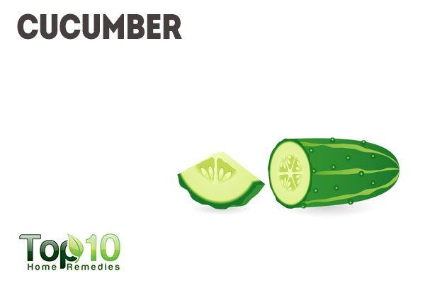 cucumber to soothe pimples