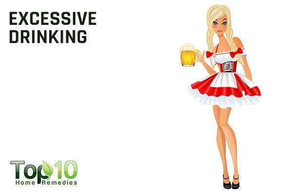 excessive drinking causes missed or irregular periods