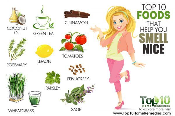 foods that help you smell nice