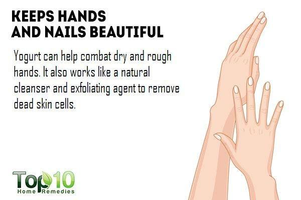 yogurt softens your hands and nails