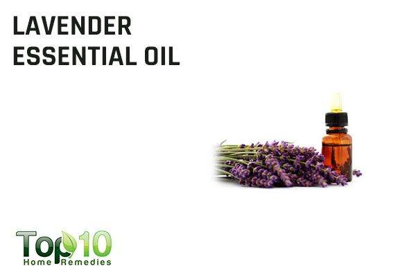 lavender essential oil to get rid of splinters