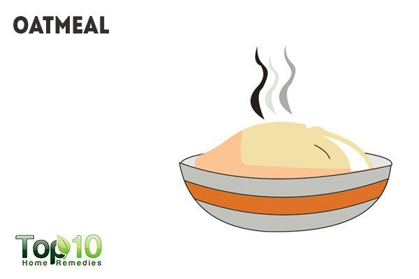 oatmeal for pimple redness