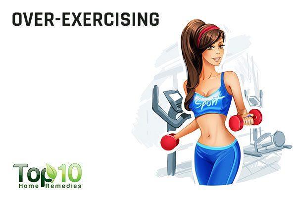 over exercising causes irregular menstruation