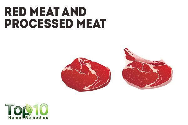 red meat and processed meats cause inflammation