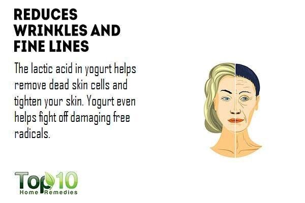 yogurt reduces wrinkles