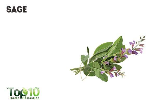 sage to combat bad breath and body odor