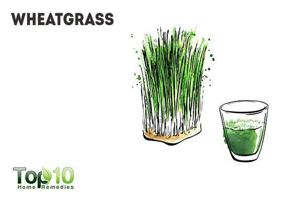 wheatgrass juice to fight foul odors