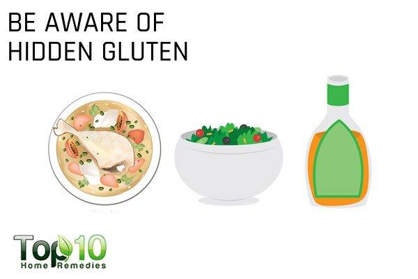 be aware of hidden gluten in your diet