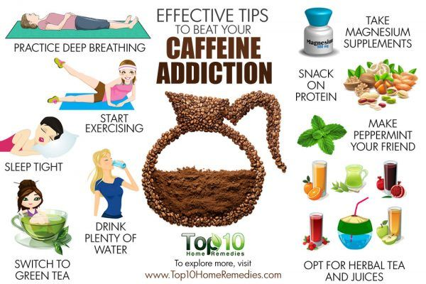effects tips to beat caffeine addiction