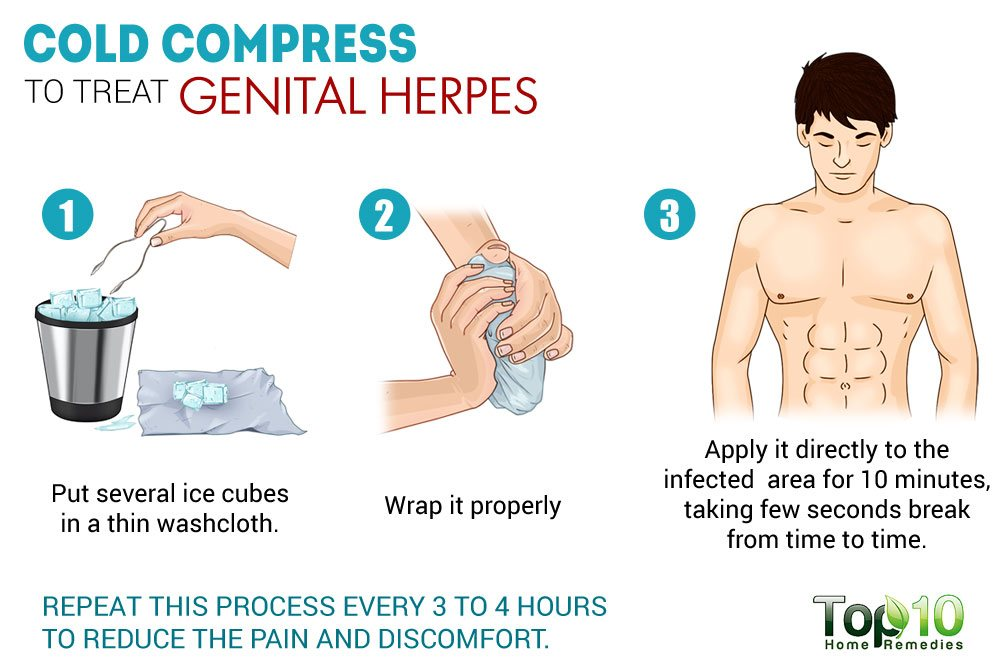 cold compress to sooth genital herpes