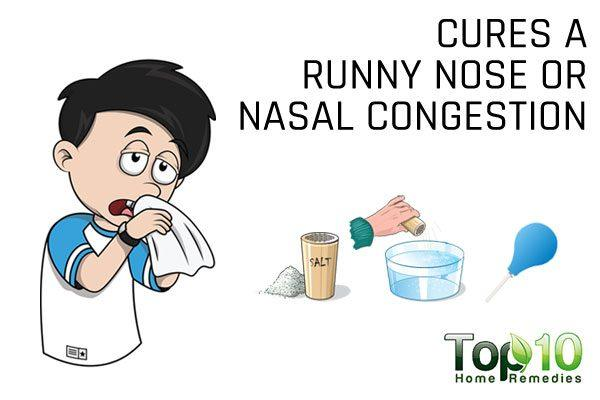 saline rinse clears nasal congestion