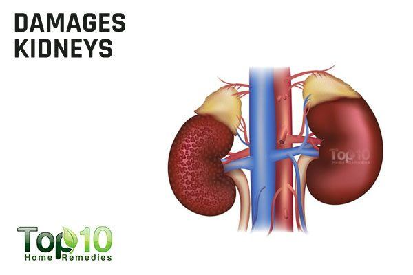 excess coffee damages kidney