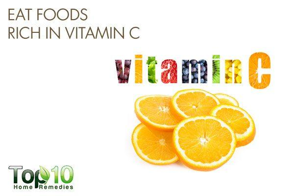 eat foods rich in vitamin C to improve bone mineral density