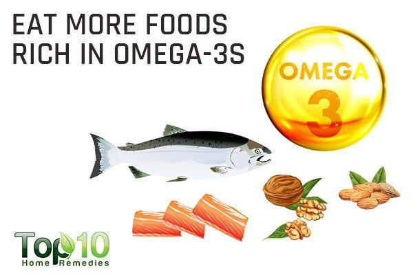 eat more omega-3 fatty acids to treat dry eyes