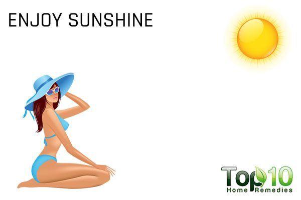 enjoy sunshine to cope with celiac disease