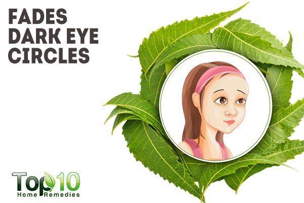 neem helps reduce dark circles