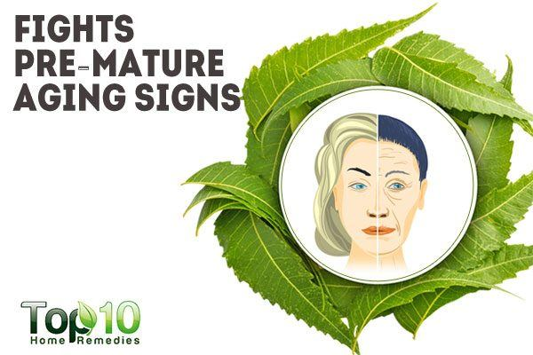neem fights premature aging signs