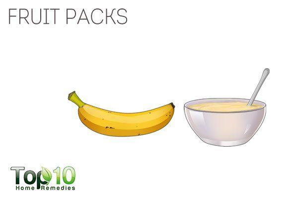 apply fruit packs for healthy feet