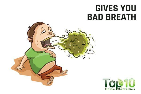 excess coffee gives you bad breath
