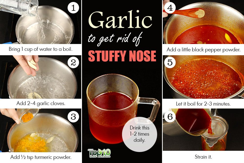 how to clear up a stuffy nose at night
